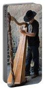 Harpist Street Musician, Barcelona, Spain Portable Battery Charger