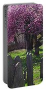 Harris Street Cemetery Cherry Blossom Tree Marblehead Ma 2 Portable Battery Charger