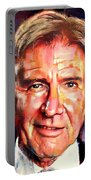 Harrison Ford Indiana Jones Portrait 2 Portable Battery Charger