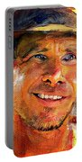 Harrison Ford Indiana Jones Portrait 3 Portable Battery Charger