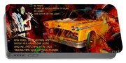 Harry Chapin Taxi Song Poster With Lyrics Portable Battery Charger