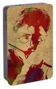 Harry Potter Watercolor Portrait Portable Battery Charger