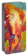Hartsel Bison In Springtime Portable Battery Charger