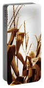 Harvest Corn Stalks - Gold Portable Battery Charger