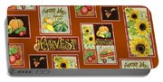 Harvest Market Pumpkins Sunflowers N Red Wagon Portable Battery Charger