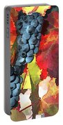 Harvest Time Grapes And Leaves Portable Battery Charger