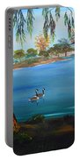Harveston Lake Geese Portable Battery Charger