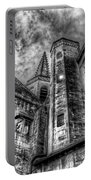 Haunted Church In Black And White Portable Battery Charger