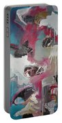 Haunted Voice-blue Red Painting Portable Battery Charger