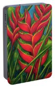 Hawaii Heliconia Flowers #445 Portable Battery Charger