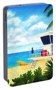 Hawaii North Shore Banzai Pipeline Portable Battery Charger by Jerome Stumphauzer