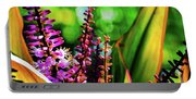 Hawaii Ti Leaf Plant And Flowers Portable Battery Charger