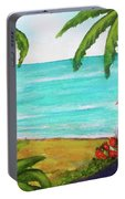 Hawaii Tropical Beach Art Prints Painting #418 Portable Battery Charger