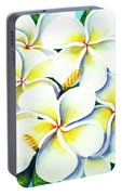 Hawaii Tropical Plumeria Flower #224 Portable Battery Charger