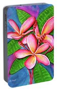 Hawaii Tropical Plumeria Flower #243 Portable Battery Charger
