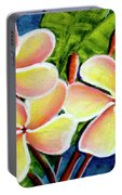 Hawaii Tropical Plumeria  Flower #314 Portable Battery Charger
