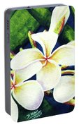 Hawaii Tropical Plumeria Flowers #160 Portable Battery Charger