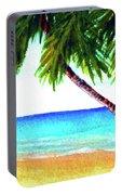 Hawaiian Beach Palm Trees  #425 Portable Battery Charger