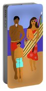Hawaiian Family Beach Scene Portable Battery Charger