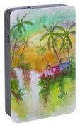 Hawaiian Homestead In The Valley #460 Portable Battery Charger
