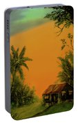 Hawaiian Homestead Sunset #05 Portable Battery Charger