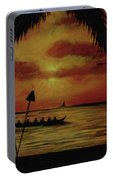 Hawaiian Sunset Paddlers #283 Portable Battery Charger