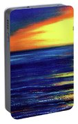 Hawaiian Sunset With Hula Dance  #183, Portable Battery Charger