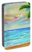 Hawaiian Tropical Beach #408 Portable Battery Charger