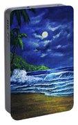 Hawaiian Tropical Ocean Moonscape Seascape #377 Portable Battery Charger