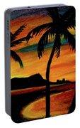 Hawaiian Waikiki Sunrise Over Diamond Head  #266 Portable Battery Charger
