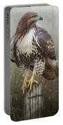 Hawk And Barbed Wire Portable Battery Charger