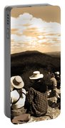 Hawk Mountain In Sepia Portable Battery Charger