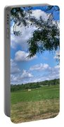 Hay Field In Summertime Portable Battery Charger