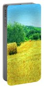 Hay Harvest In Tuscany Portable Battery Charger