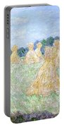 Haystacks The Young Ladies Of Giverny Sun Effect Portable Battery Charger