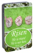 He Is Risen Portable Battery Charger