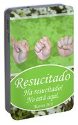 He Is Risen Spanish Portable Battery Charger