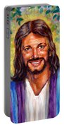 He Smiles Portable Battery Charger by John Lautermilch
