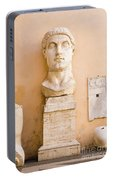 Head From The Statue Of Constantine, Rome, Italy Portable Battery Charger
