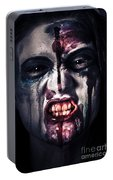 Head Shot On A Pure Evil Zombie Girl Portable Battery Charger