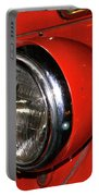 Headlamp On Red Firetruck Portable Battery Charger