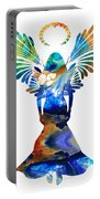 Healing Angel - Spiritual Art Painting Portable Battery Charger by Sharon Cummings