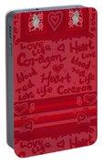 Heart Art Portable Battery Charger