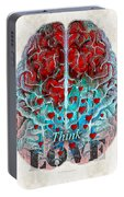 Heart Art - Think Love - By Sharon Cummings Portable Battery Charger