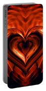 Heart In Flames Portable Battery Charger
