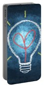 Heart In Light Bulb Portable Battery Charger
