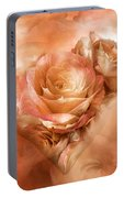 Heart Of A Rose - Gold Bronze Portable Battery Charger