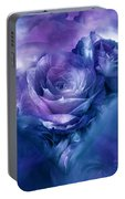 Heart Of A Rose - Lavender Blue Portable Battery Charger