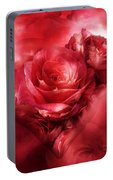 Heart Of A Rose - Red Portable Battery Charger