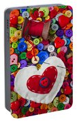 Heart Pushpin Chusion  Portable Battery Charger